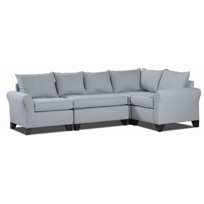 Carolina Accents Belle Meade 4-piece- TLSLT Belle Meade Sectional Light Slate by