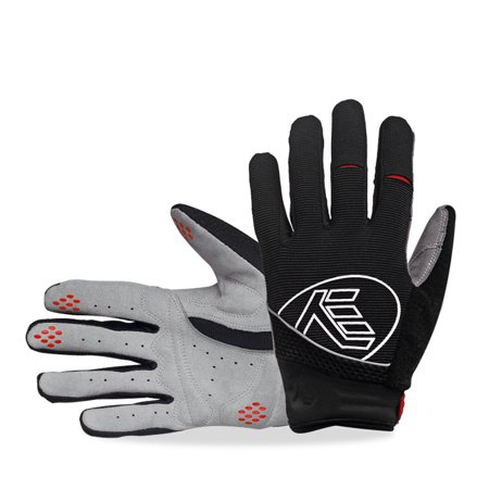 Outdoor Sports Full-Finger Gloves Wear Resistance Anti-slip Breathable for Racing Motorcycle MTB Bike Riding Color:black Size:XL (Ariat Riding Wear)