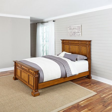 Home Styles Americana Bedroom Furniture Collection Distressed Oak Finish Walmart Com