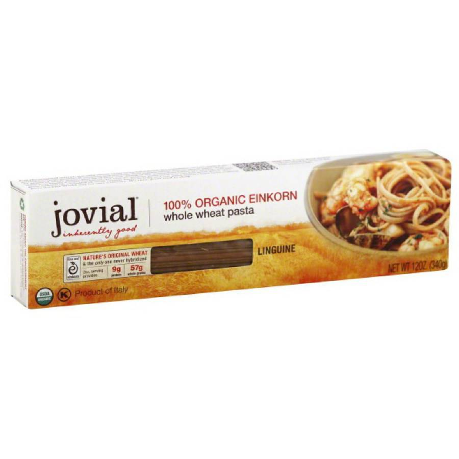 Jovial Whole Wheat Einkorn Linguine Pasta, 12 oz, (Pack of 6)