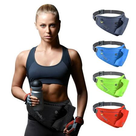 Sport Outdoor Runner Fitness Workout Waist Pack Bum Bag Hiking Running Jogging Pouch Hydration Belt Gym Wallet with Bottle Holder Pocket,