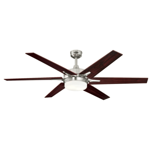 Westinghouse 7207700 Cayuga 2 Light 6 Blade LED Hanging Ceiling Fan with Reversible Blades, Light Kit, Remote Control and Downrod Included