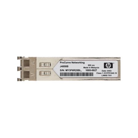 HP J4858D Aruba - SFP (mini-GBIC) transceiver module - GigE - 1000Base-SX - LC multi-mode - up to 1640 ft - for OfficeConnect 1410 24, HPE Aruba