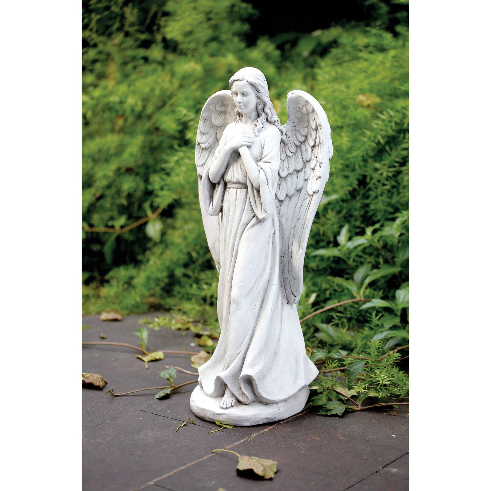 Napco White Praying Angel Garden Statue