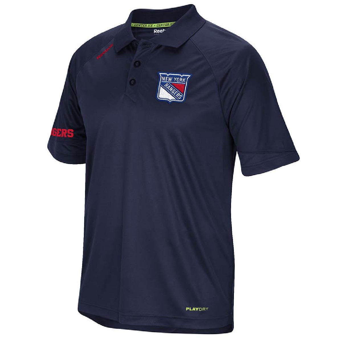 Reebok New York Rangers Navy Blue Center Ice Synthetic Po...