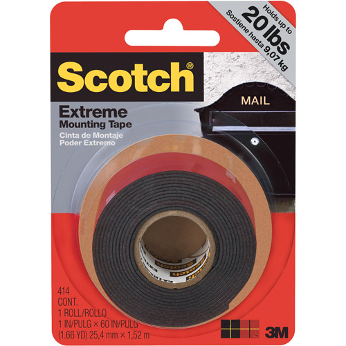 Extreme Mounting Tape, 1 in X 60 in, 1 Roll/Pack