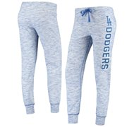 Los Angeles Dodgers New Era Women's Space Dye French Terry Pant - Heathered Royal