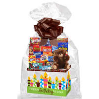 Happy Birthday To You Thinking Of You Cookies, Candy & More Care Package Snack Gift Box Bundle Set - Arrives in 3-4Business Days