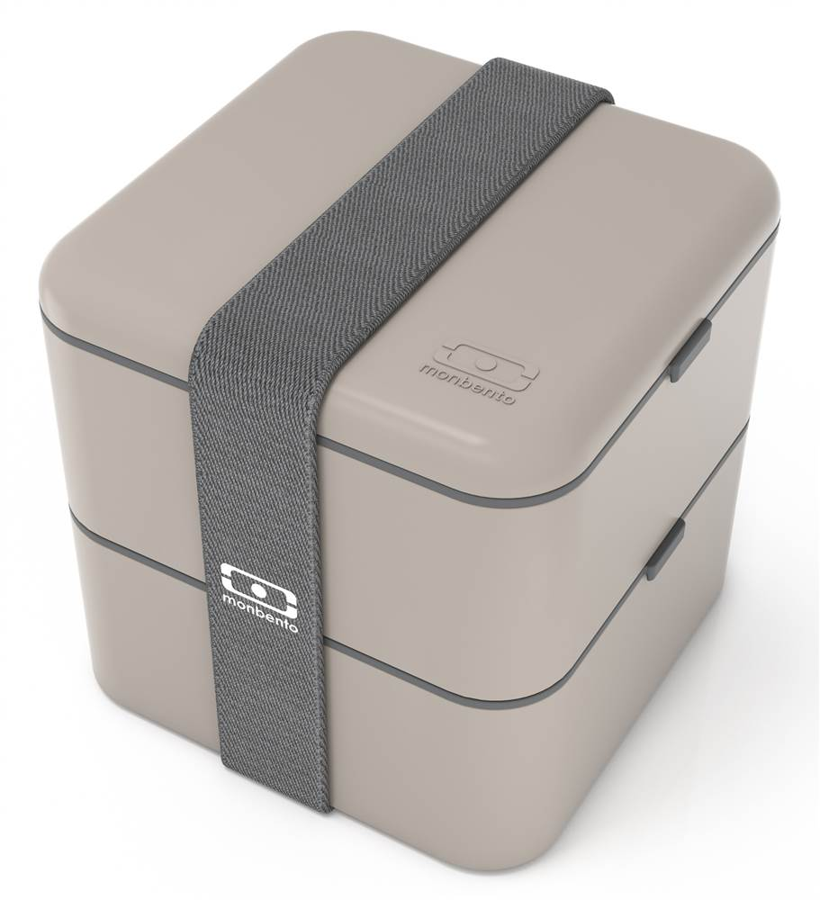 Square Bento Box in Gray