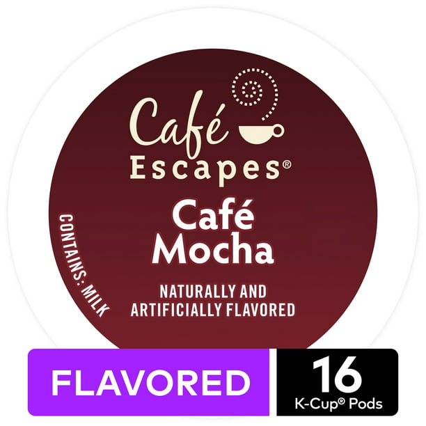 Cafe Escapes Cafe Mocha K-Cup Pods, 16 Count for Keurig Brewers