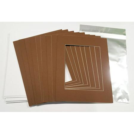 "Brown 30.5cm x 40.5cm (12""x16"") White Picture Mats with White Core for 20.5cm x 25.5cm (8""x10"") Pictures - Fits 30.5cm x - image 2 de 2"