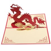 ENJOY Chinese Features 3D Pop Up Handmade Merry Christmas Greeting Card Papermade