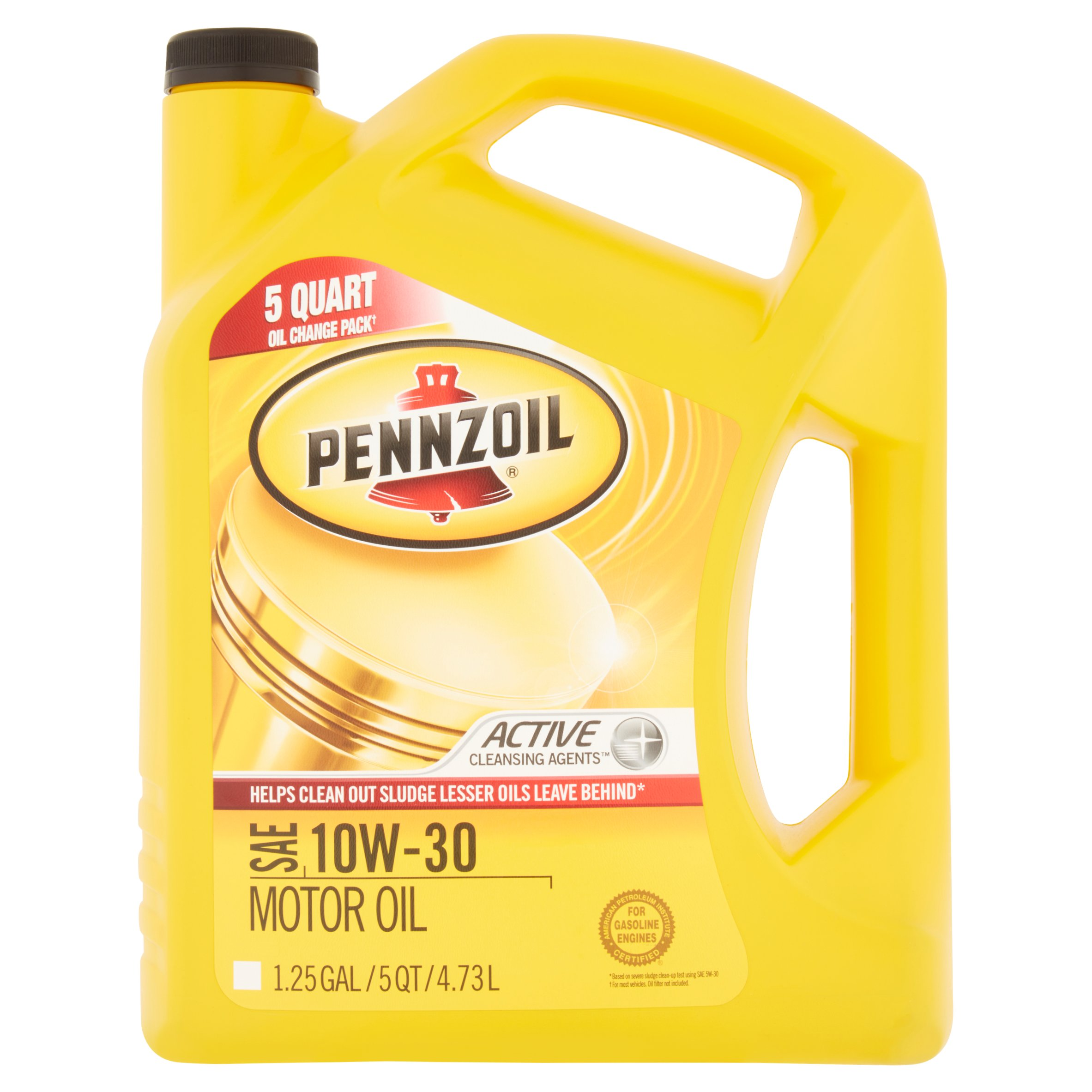 Pennzoil Active Cleansing Agents SAE 10W-30 Motor Oil, 1.25 gal