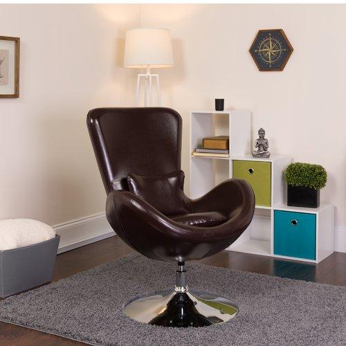 Orren Ellis Palisades Leather Lounge Chair
