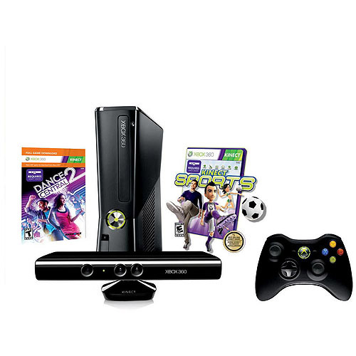 Xbox 360 250GB Kinect Value Bundle w/ Kinect Sports and Dance Central 2