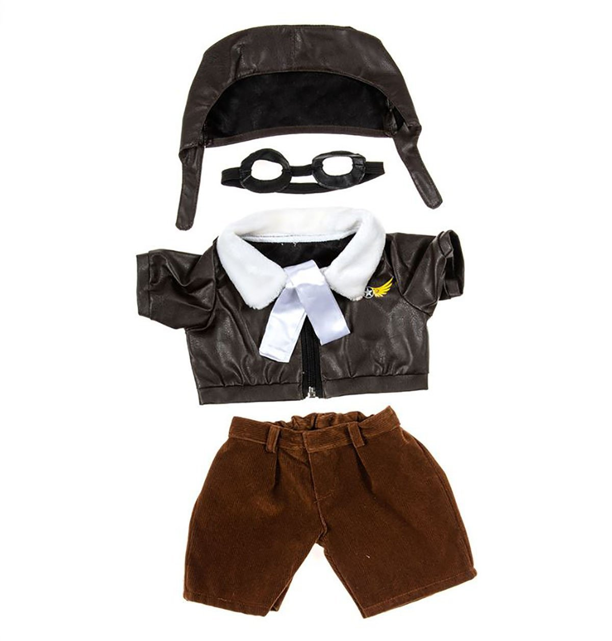 "Pilot Outfit with Goggles Teddy Bear Clothes Fits Most 14"" 18"" Build-a-bear,... by Bear Factory"