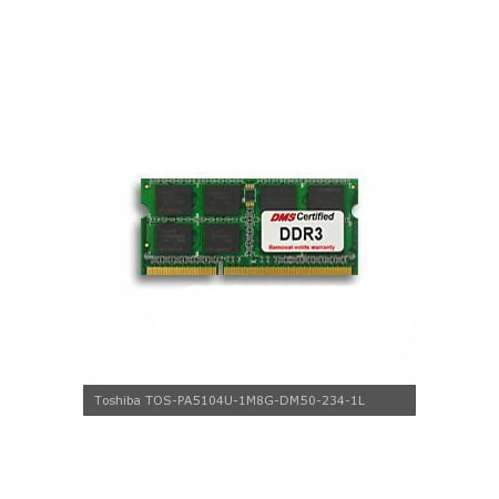 DMS Compatible/Replacement for Toshiba PA5104U-1M8G Satellite P850-040 8GB DMS Certified Memory  204 Pin  DDR3L-1600 PC3-12800 1.35V SODIMM LapTop Memory All Components Laptop Memory