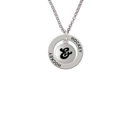 Capital Letter       Pebble Disc   Lucky Dog Affirmation Ring Necklace