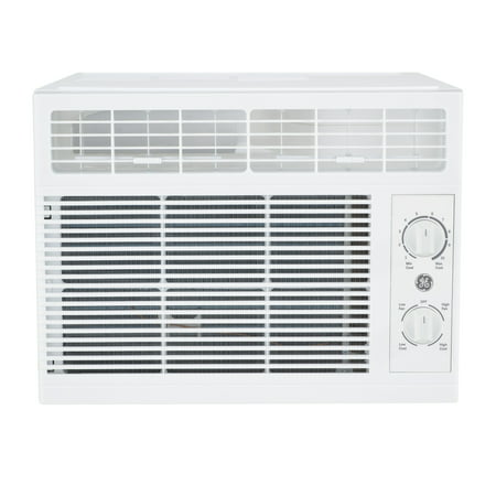 GE 5000 BTU 115-Volt Mechanical Room Air Conditioner for Small Rooms, White, AHT05LZ