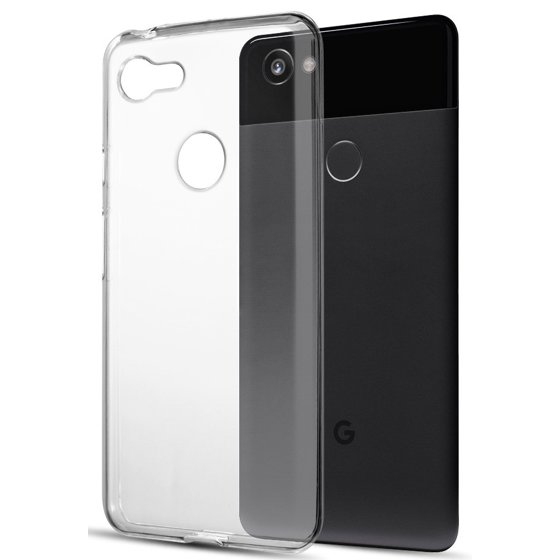 reputable site 96013 0b625 Google Pixel 3 Clear Case, Transparent Flex Gel TPU Skin Slim Cover for  Google Pixel 3 (2018)