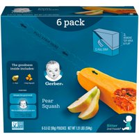 (Pack of 6) Gerber 2nd Foods Baby Food, Pear Squash, 3.5 oz Pouch