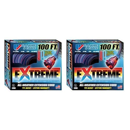 U S Wire and Cable Corp US Wire 99100 12 3 100 Foot SJEOW TPE Extensio