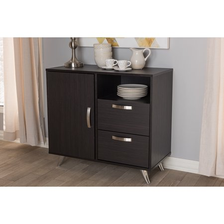 Baxton Studio Warwick Modern and Contemporary Espresso Brown Finished Wood Sideboard Deep Espresso Finish