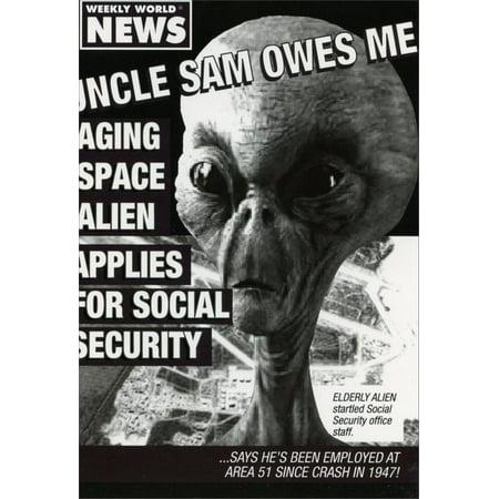 Nobleworks Uncle Sam Owes Me Funny / Humorous Birthday Card (Sram Card)