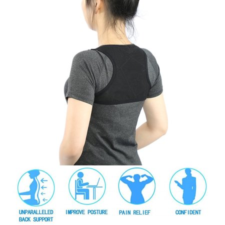 Yosoo 2 Sizes Posture Corrector Women Men Under Clothes - Adjustable Upper Back Brace Posture Hump Corrector - Posture Brace Strap - Clavicle Brace Kyphosis Thoracic Support (Best Way To Sleep With Thoracic Back Pain)