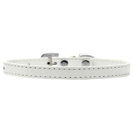 Omaha Plain Puppy Collar White Size 8