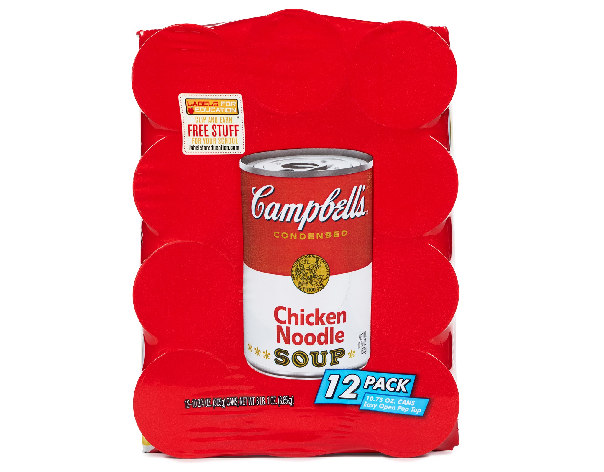 Campbell's Chicken Noodle Soup, 10.75 Oz, 12 Ct