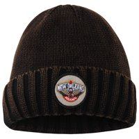 New Orleans Pelicans Mitchell & Ness Current Logo Ribbed Knit Hat - Brown - OSFA