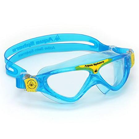 Aqua Sphere Vista Junior Swim Mask with Clear Lens, Bluewater/Yellow Aqua Sphere Vista Swim Mask