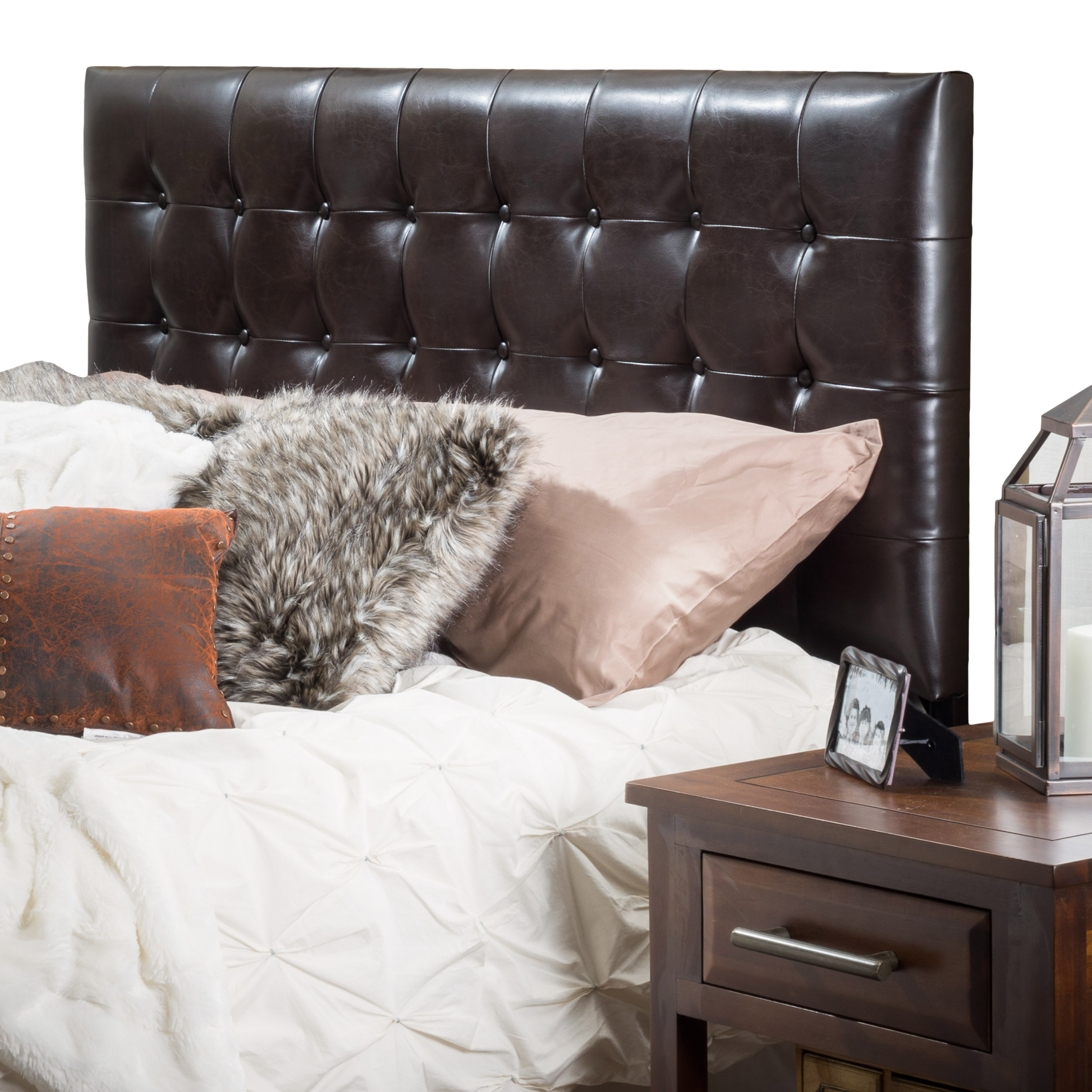 Lucca Tufted Bonded Leather King/Cal King Headboard