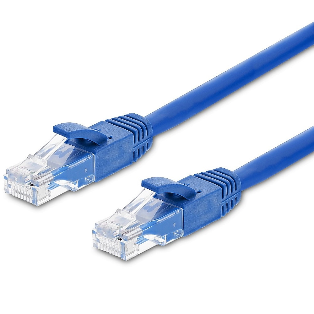 Fosmon 50FT Cat6 Ethernet LAN Networking Patch Cable (Blue)
