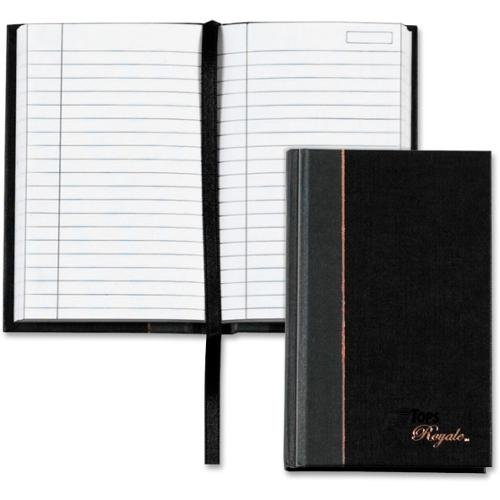 """TOPS Royale Business Casebound Notebook - 96 Sheets - Printed - Sewn - 20 lb Basis Weight 3.50"""" x 5.50"""" - White Paper -"""