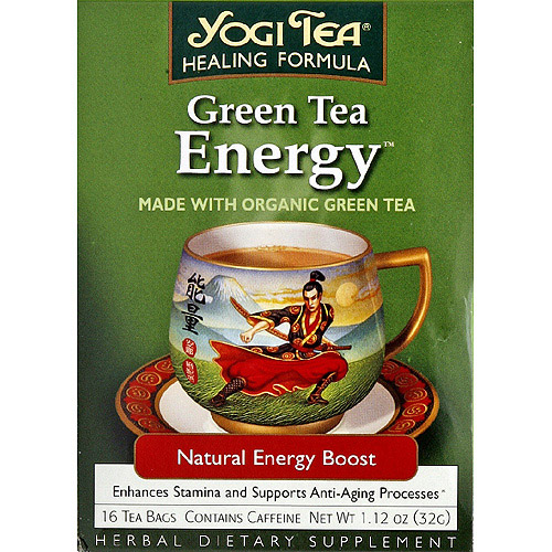 Generic Yogi Tea Green Tea Energy Herbal Supplement Tea Bags, 1.12 oz, (Pack of 6)