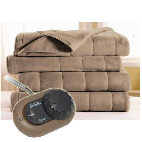 sunbeam h10 heated electric blanket royal dreams quilted fleece twin full queen king - King Size Blanket