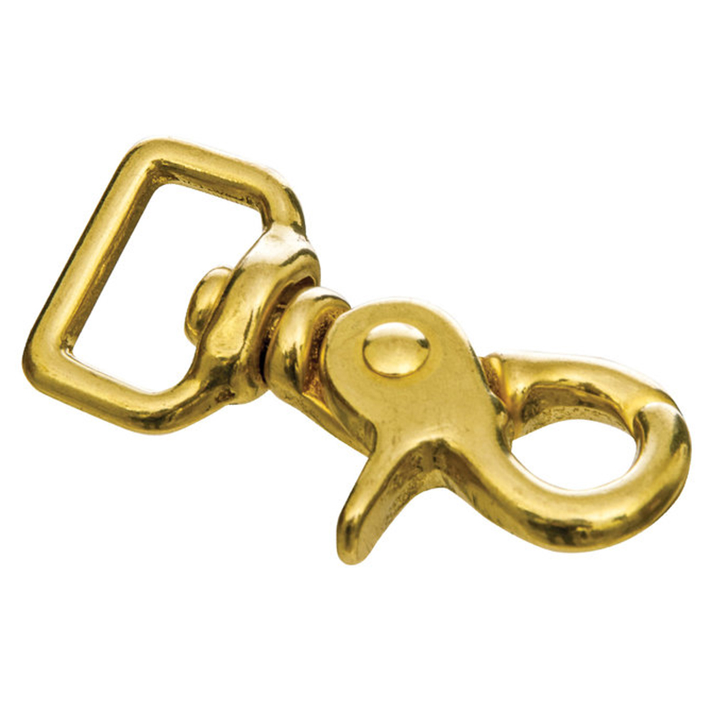 """C-TY04 4 Pack 1/"""" X 2-1//2/"""" Hilason Horse Tack Solid Brass Trigger Snap Square Eye"""