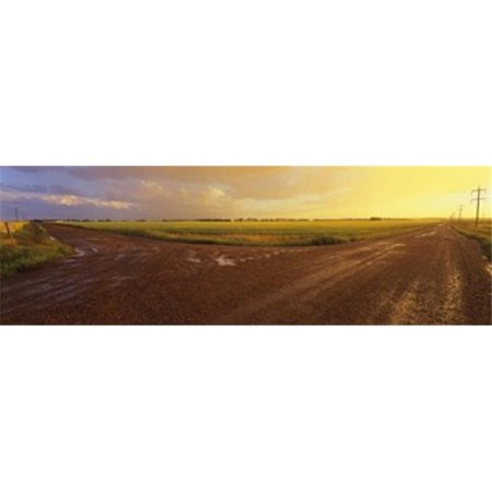 Panoramic Images PPI100437L Country crossroads passing through a landscape  Edmonton  Alberta  Canada Poster Print by Panoramic Images - 36 x 12 - image 1 of 1