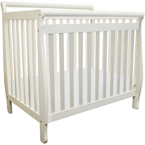 Athena Mini Amy 2-in-1 Fixed-Side Convertible Mini Crib, Choose Your Finish