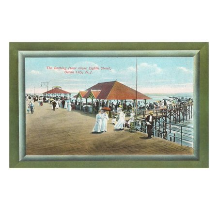 Bathing House, Ocean City, New Jersey Print Wall - Party City In Jersey City