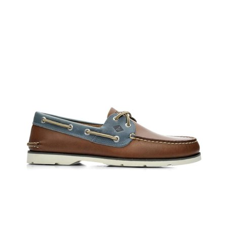 Men's Leeward Boat Shoe Tan Blue 13 W