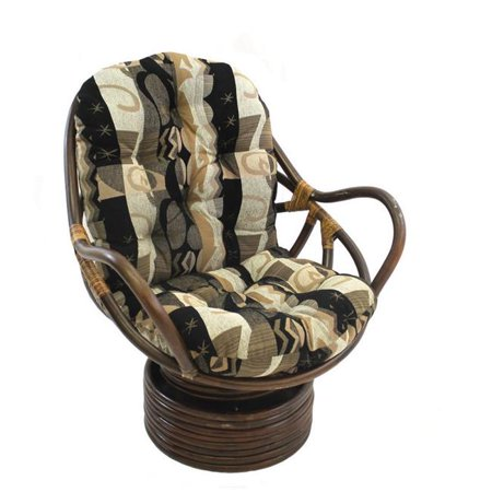 Rattan Swivel Rocker with Cushion, Elysian Fields ()