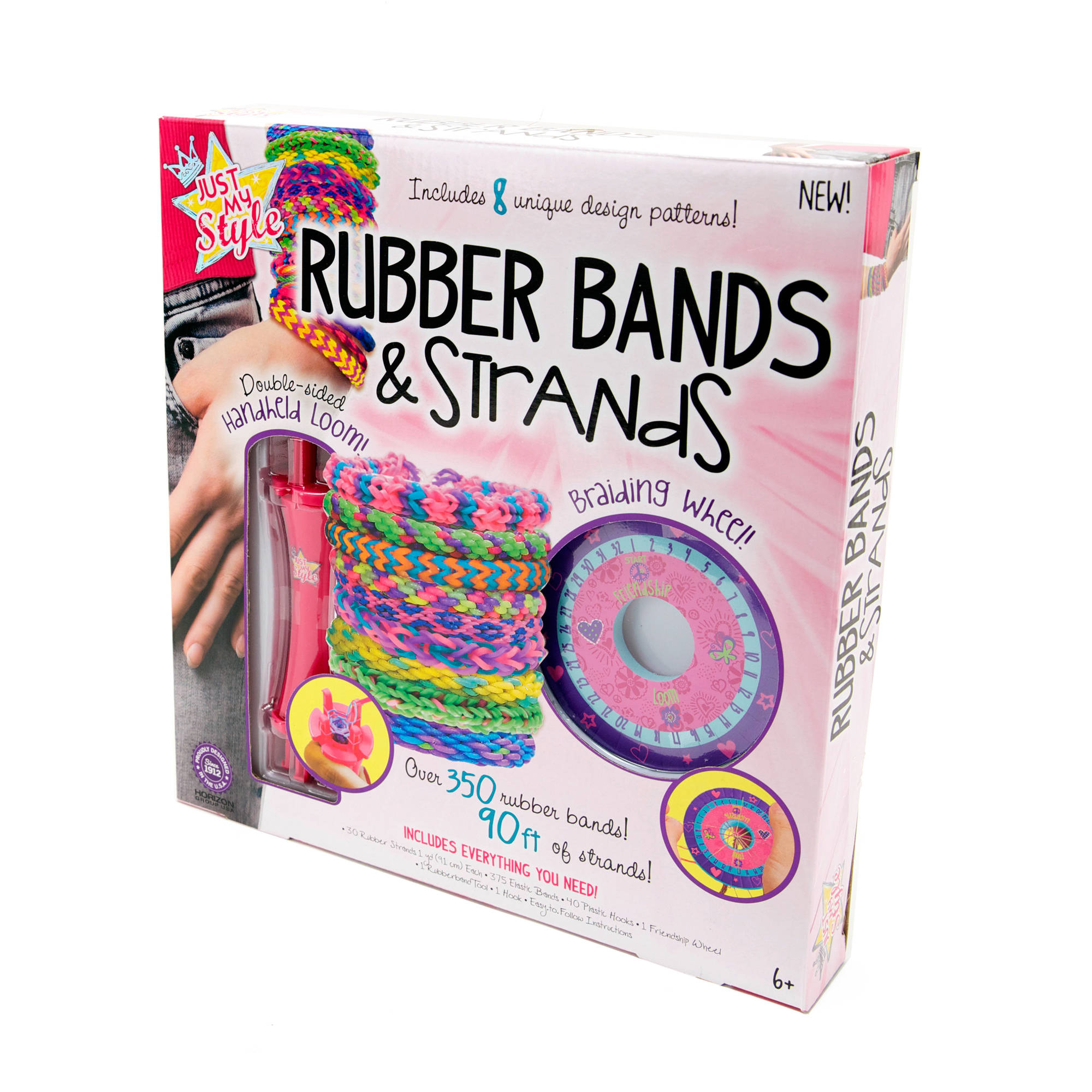 Horizon Group Just My Style Rubber Bands & Strands Jewelry Making Kit, 1  Each