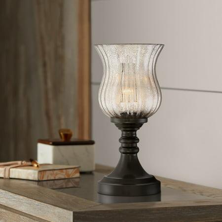 Regency Hill Larry Mercury Glass  Accent Lamp Glass Uplight Accent Lamp