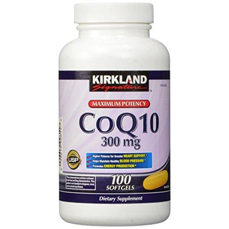 Kirkland Signature Coq10 100 Softgels  300 Mg  6 4 Ounce