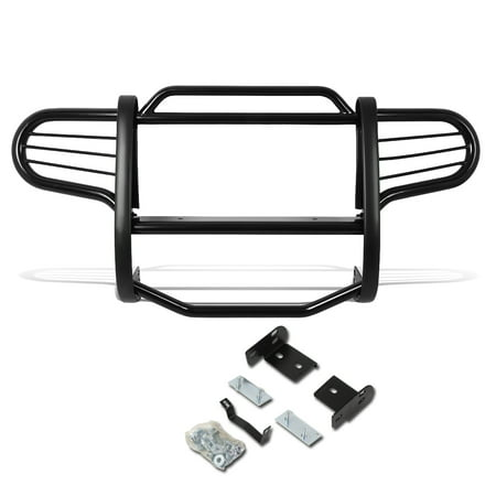 For 02-07 Jeep Liberty KJ Front Bumper Protector Brush Grille Guard (Black) 03 04 05 06 - 04 Waag Grille Guard