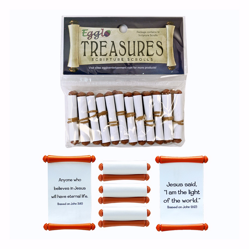 Toy-Egglo Treasures Scripture Scroll (Pack of 12)