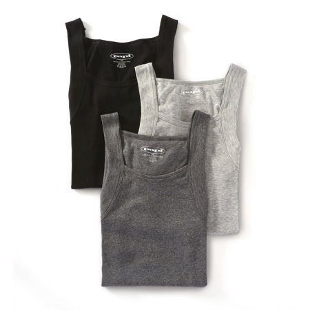 ae081957408f09 Men s Papi 559102 Essentials 100% Cotton Square Neck Tank - 3 Pack ...